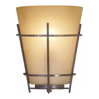 Aurora Lighting A19 Wall Sconce Lamp, Frontier Iron(STL-VME553411)
