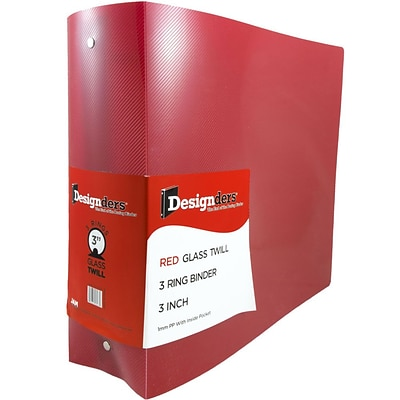 jam paper plastic 3 ring binder 3 inch red sold individually