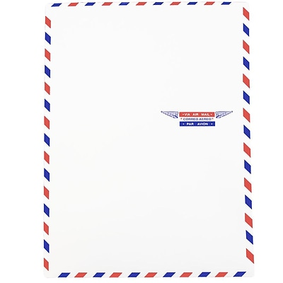 JAM Paper® Airmail 9 x 12 Open End Catalog Envelopes, 100/pack (1430744C)