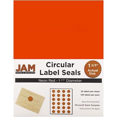 jam paper round circle label sticker seals 1 2 3 inch diameter
