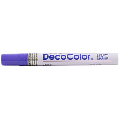 JAM Paper® Broad Point Opaque Paint Marker, Violet Purple, Sold Individually (526300VI)