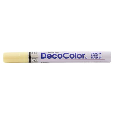 JAM Paper® Broad-Point Opaque Paint Marker, Cream Yellow, Sold Individually (526300CY)