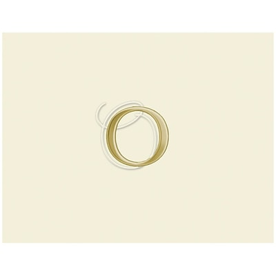 JAM Paper® Personal Stationery Foldover Card Set, Natural White with Elegant Gold Letter O, 12/Pack (52611807831)