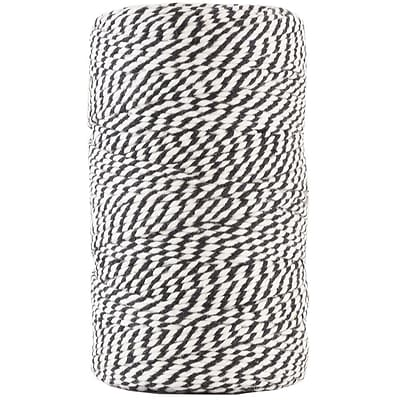 JAM Paper® Bakers Twine, Black and White, 109 Yards, Sold Individually (349530305)