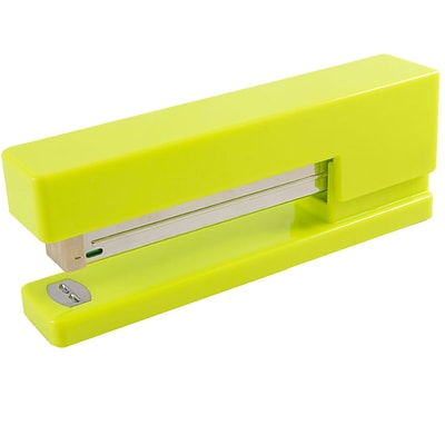 JAM Paper® Modern Desk Stapler, Lime Green, Sold Individually (337GR)