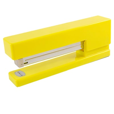 JAM Paper® Modern Desk Stapler, Yellow, Sold Individually (337YE)