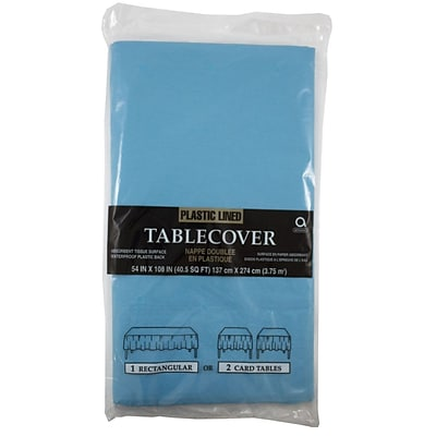 JAM Paper® Paper Table Covers, Sea Blue Table Cloths, Sold Individually (291329701)