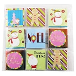 JAM Paper® Christmas Gift Tags, Assorted Colors, 18/pack (526IG74714)