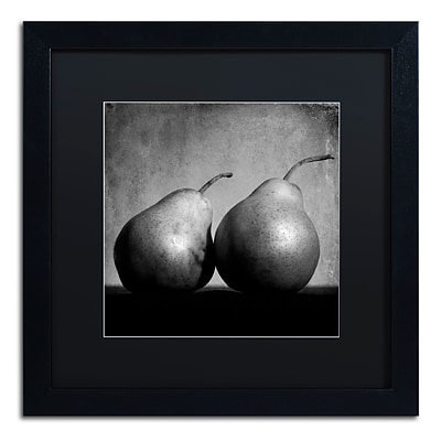 Trademark Fine Art Coqueteo Peras by Moises Levy 16 x 16 Black Matted Black Frame (886511840164)