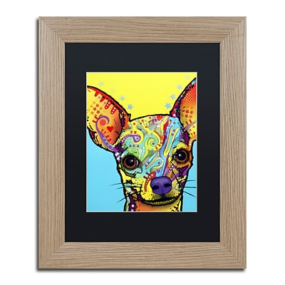 Trademark Fine Art Chihuahua by Dean Russo 11 x 14 Black Matted Wood Frame (886511837744)