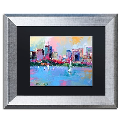 Trademark Fine Art Boston 3 by Richard Wallich 11 x 14 Black Matted Silver Frame (886511838826)