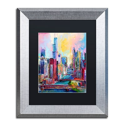 Trademark Fine Art Chicago 3 by Richard Wallich 11 x 14 Black Matted Silver Frame (886511838901)