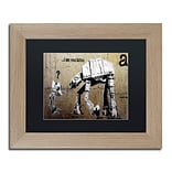 Trademark Fine Art Your Father by Banksy 11 x 14 Black Matted Wood Frame (886511839502)