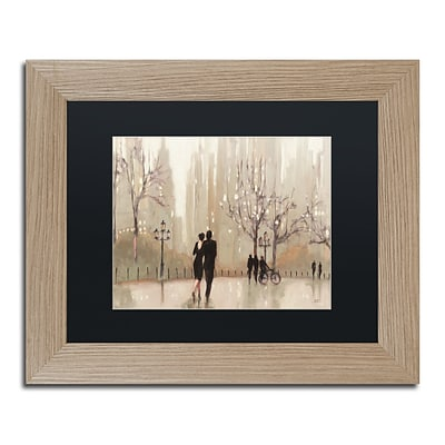 Trademark Fine Art An Evening Out Neutral by Julia Purinton 11 x 14 Black Matted Wood Frame (886511860063)
