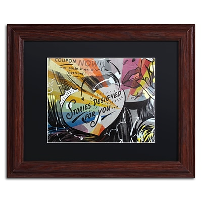 Trademark Fine Art Coupon Stories by Dan Monteavaro 11 x 14 Black Matted Wood Frame (886511778986)