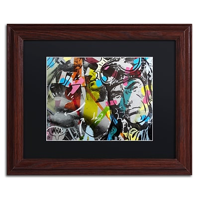 Trademark Fine Art Strongman by Dan Monteavaro 11 x 14 Black Matted Wood Frame (886511779976)