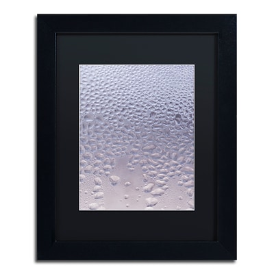 Trademark Fine Art Condensation on a Cold Window by Kurt Shaffer 11 x 14 Black Matted Black Frame (886511821286)
