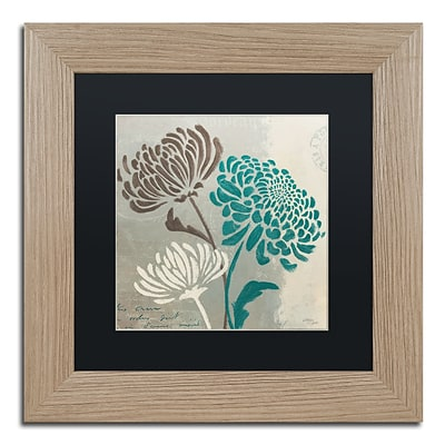 Trademark Fine Art Chrysanthemums II by Wellington Studio 11 x 11 Black Matted Wood Frame (886511860544)