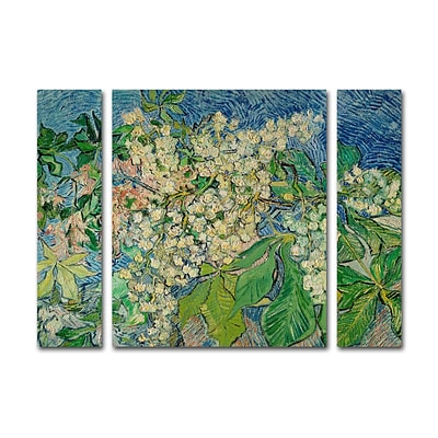 Trademark Fine Art Chesnut Branches by Vincent Van Gogh 30 x 41 Multi Panel Art Set Large (886511916487)