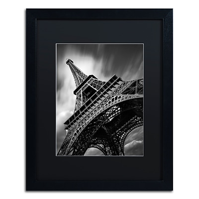 Trademark Fine Art Eiffel Tower Study II by Moises Levy 16 x 20 Black Matted Black Frame (886511869813)