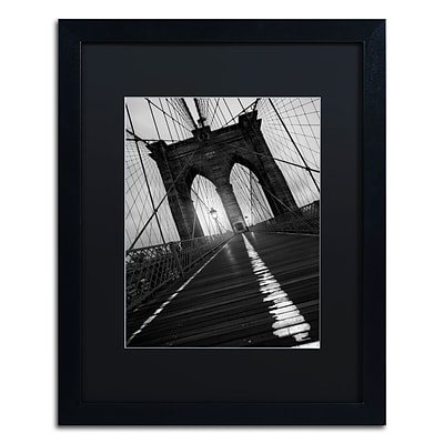 Trademark Fine Art Brooklyn Bridge Study I by Moises Levy 16 x 20 Black Matted Black Frame (886511869936)