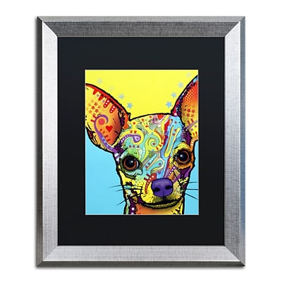 Trademark Fine Art Chihuahua by Dean Russo 16 x 20 Black Matted Silver Frame (886511837720)