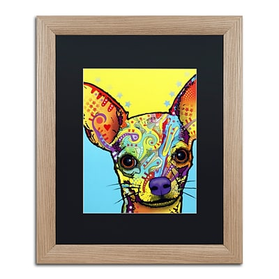 Trademark Fine Art Chihuahua by Dean Russo 16 x 20 Black Matted Wood Frame (886511837768)
