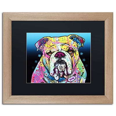 Trademark Fine Art The Bulldog by Dean Russo 16 x 20 Black Matted Wood Frame (886511838000)