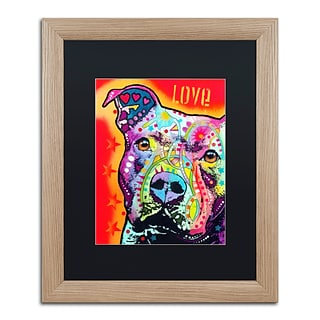 Trademark Fine Art Thoughtful Pitbull by Dean Russo 16 x 20 Black Matted Wood Frame (886511838