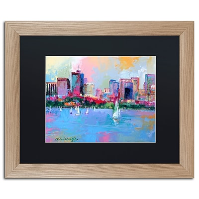 Trademark Fine Art Boston 3 by Richard Wallich 16 x 20 Black Matted Wood Frame (886511838888)