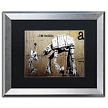 Trademark Fine Art Your Father by Banksy  16 x 20 Black Matted Silver Frame (886511839489)