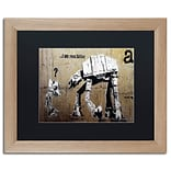 Trademark Fine Art Your Father by Banksy 16 x 20 Black Matted Wood Frame (886511839526)