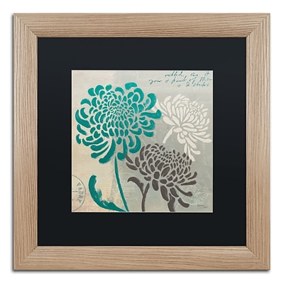 Trademark Fine Art Chrysanthemums I by Wellington Studio 16 x 16 Black Matted Wood Frame (886511860483)