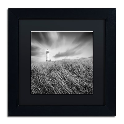 Trademark Fine Art Yaquina Lighthouse III by Moises Levy 11 x 11 Black Matted Black Frame (886511871397)