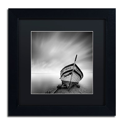 Trademark Fine Art Boat I by Moises Levy 11 x 11 Black Matted Black Frame (886511876835)