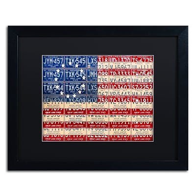 Trademark Fine Art Betsy Ross Flag by Design Turnpike 16 x 20 Black Matted Black Frame (886511910980)