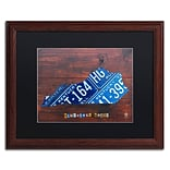 Trademark Fine Art Kentucky License Plate Map by Design Turnpike 16 x 20 Black Matted Wood Fra