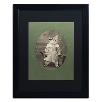 Trademark Fine Art Cat Series #2 by J Hovenstine Studios 16 x 20 Black Matted Black Frame (886511912601)
