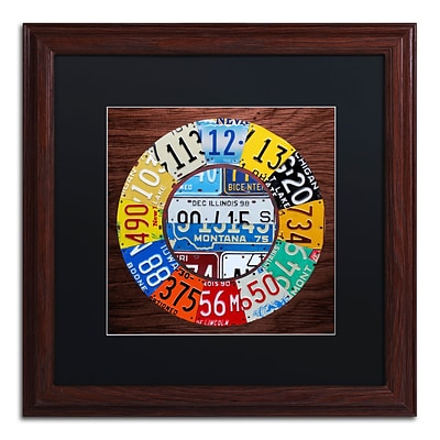 Trademark Fine Art Clock Square by Design Turnpike 16 x 16 Black Matted Wood Frame (886511910959)