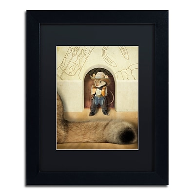 Trademark Fine Art New Mouse In Town by J Hovenstine Studios 11 x 14 Black Matted Black Frame (886511915787)