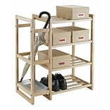 Luxury Home Isabel 4-Tier Shoe Rack; Natural