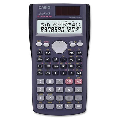Casio® FX-300MSPlus Scientific Calculator, Gray