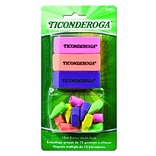 Dixon Ticonderoga Assorted Erasers, Assorted Neon Colors, 15/Pack (38931)
