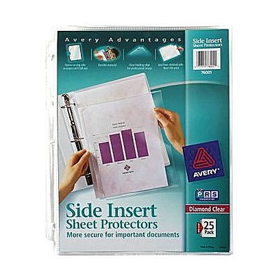 Avery® Side Insert Sheet Protectors
