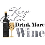 RoomMates® Keep Calm & Drink Wine Quote Peel and Stick Wall Decal, 9 x 40