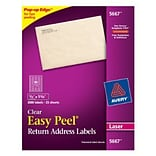 Avery® 5667 Clear Easy Peel Laser Return Ad...