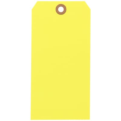 Yellow Shipping Tags, #8, 6-1/4 x 3-1/8, 1000/Case