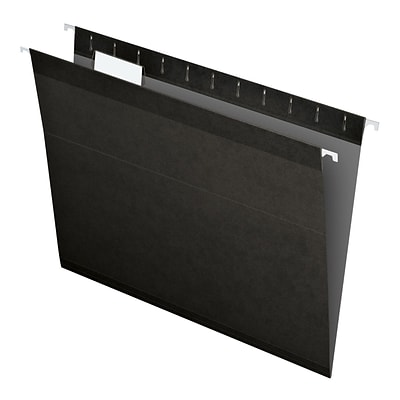 Pendaflex® Recycled Colored Hanging File Folders, Letter Size, Black