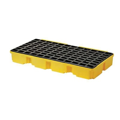 DBS Eagle 6.5 in (H) x 26.25 in (W) x 51.5 in (L) 2-Drum Modular Spill Platform, 30 Gallon, 5000 lbs.