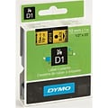 Dymo D1 1/2 Label Tape Black on Yellow